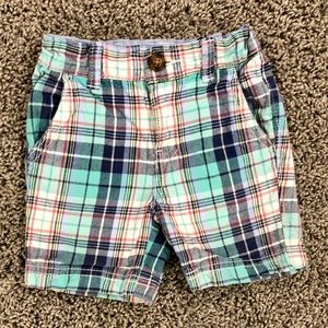 5/$25 Carter's toddler boys plaid shorts size 3T